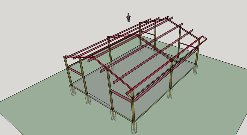 Hybrid Pole Barn Texas Exclusive Combining Wood With Steel